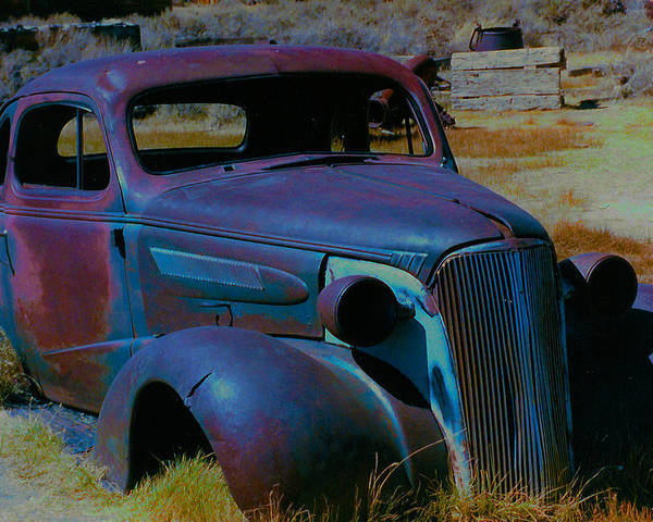 Barbara Snyder Poster featuring the digital art Bodie Plymouth by Barbara Snyder