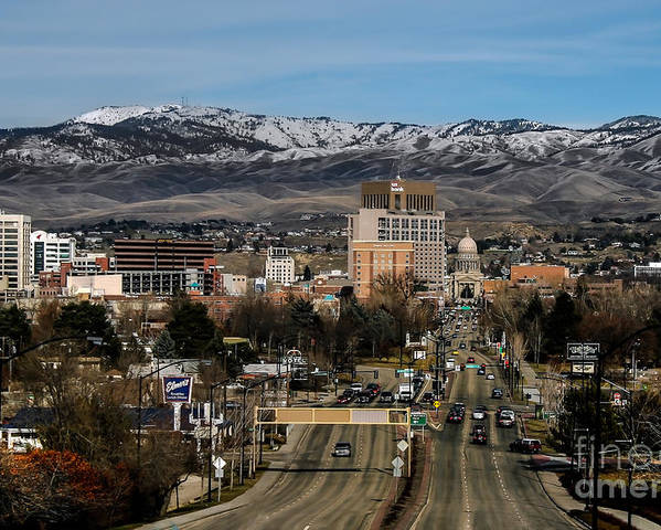 City Poster featuring the photograph Boise Idaho by Robert Bales