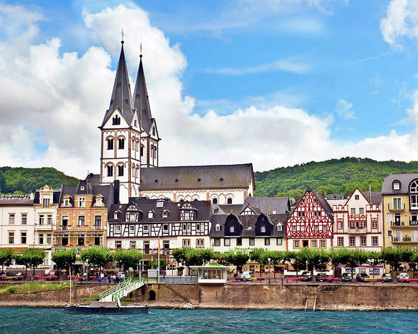 Architecture Poster featuring the photograph Boppard, Germany, Rhineland-palatinate by Miva Stock