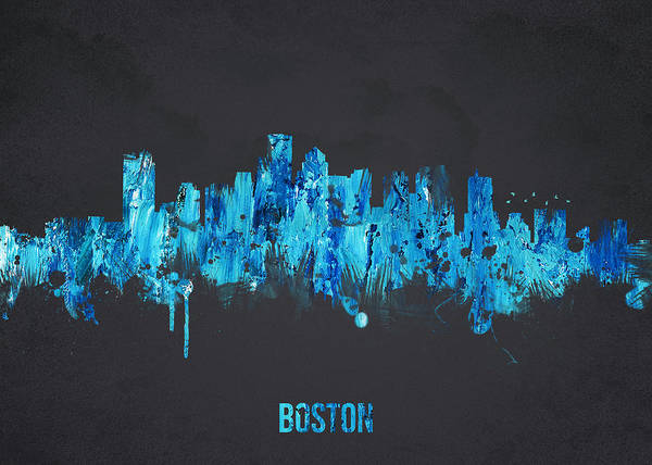 Architecture Poster featuring the digital art Boston Massachusetts Usa by Aged Pixel