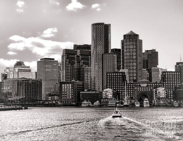 Boston Poster featuring the photograph Boston by Olivier Le Queinec