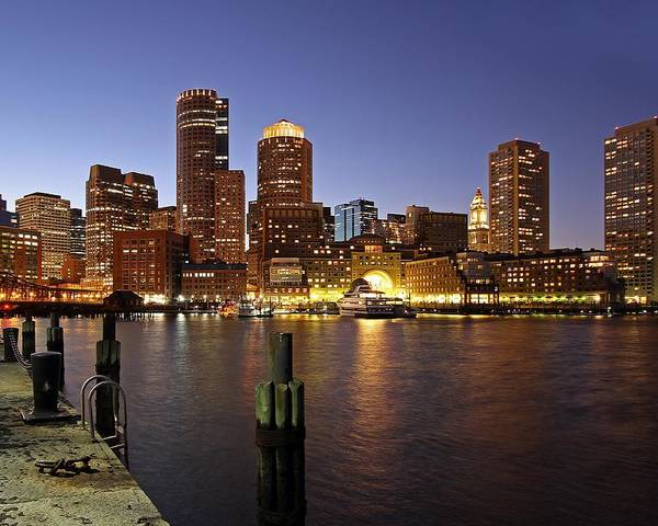 Boston Poster featuring the photograph Boston Skyline And Fan Pier by Juergen Roth