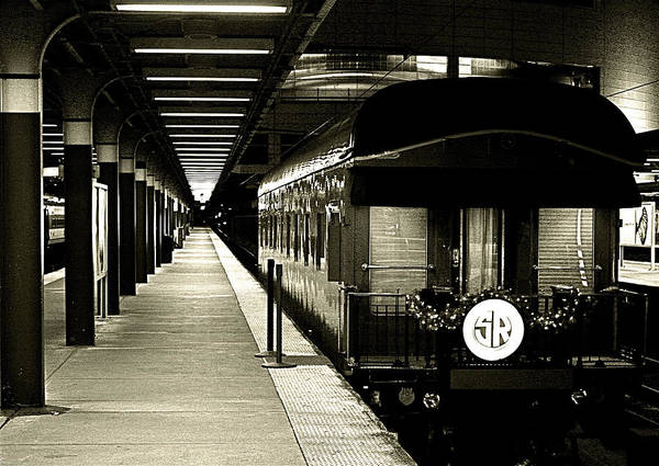 Poster featuring the photograph Boston South Station Old Train by Natalia Radziejewska
