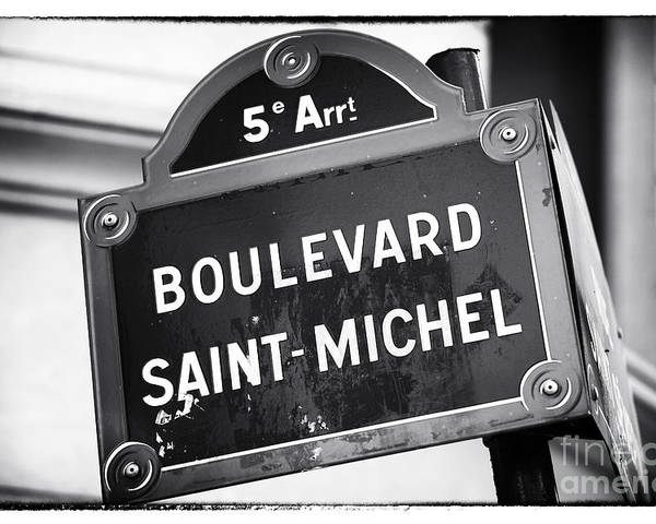 Boulevard Saint-michel Poster featuring the photograph Boulevard Saint-michel by John Rizzuto