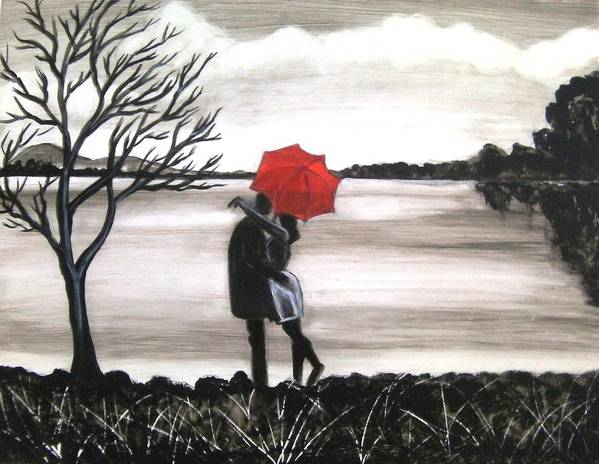 Love Valentine Romance Romantic Poster featuring the painting Bound by Love by Manjiri Kanvinde
