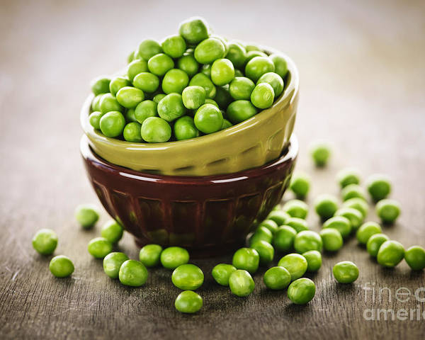 Peas Poster featuring the photograph Bowl Of Peas by Elena Elisseeva