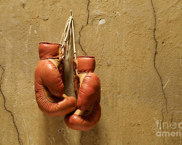Strength Poster featuring the photograph Boxing Gloves by Bernard Jaubert