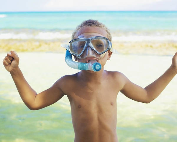 Activity Poster featuring the photograph Boy With Snorkel by Kicka Witte
