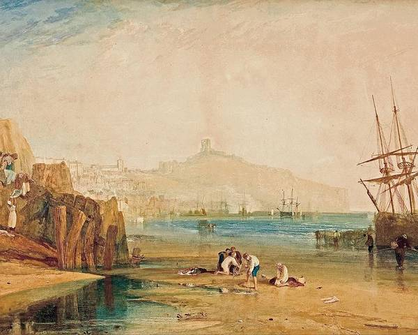1810 Poster featuring the painting Boys Catching Crabs by JMW Turner