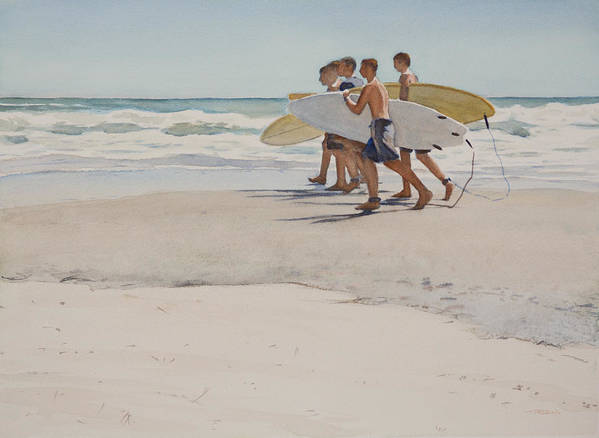 Art Poster featuring the painting Boys Of Summer by Christopher Reid
