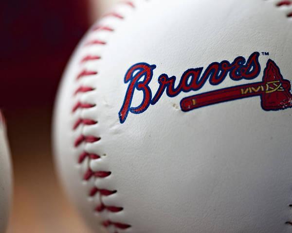 Baseball Poster featuring the photograph Braves Baseball by Ricky Barnard