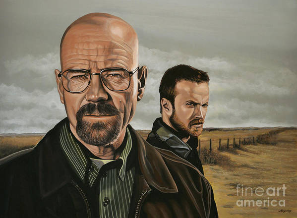 Breaking Bad Poster featuring the painting Breaking Bad by Paul Meijering