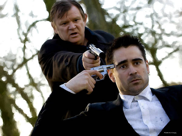 Brendan Gleeson Poster featuring the digital art Brendan Gleeson and Colin Farrell @ In Bruges by Gabriel T Toro