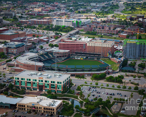Oklahoma City Poster featuring the photograph Bricktown Ballpark by Cooper Ross