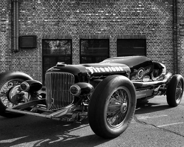 Buick Poster featuring the photograph Brickyard Buick by Peter Chilelli