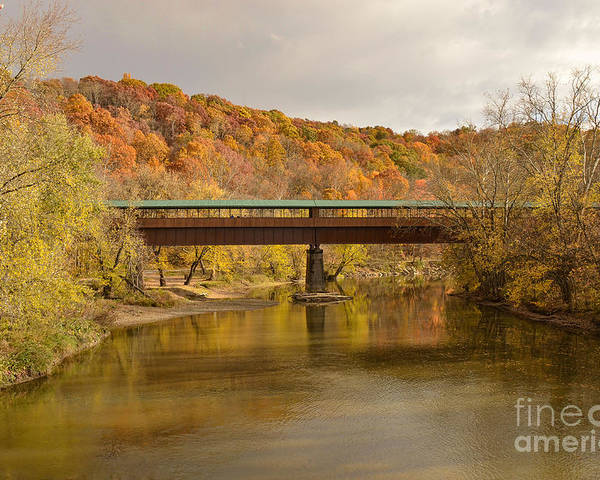 Covered Bridge Poster featuring the photograph Bridge Of Dreams by Karen English