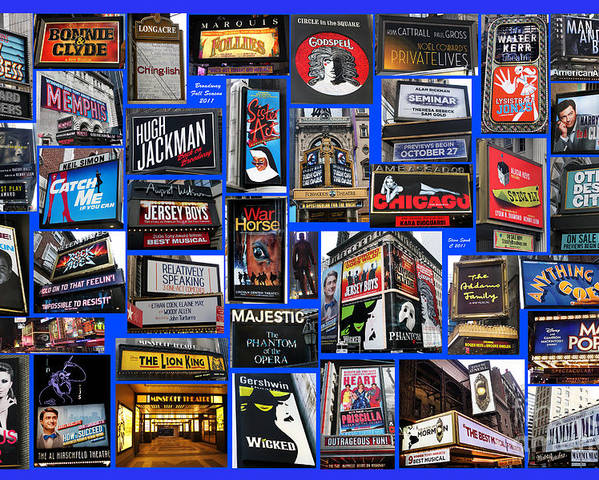 Broadway Poster featuring the photograph Broadway Collage by Steven Spak