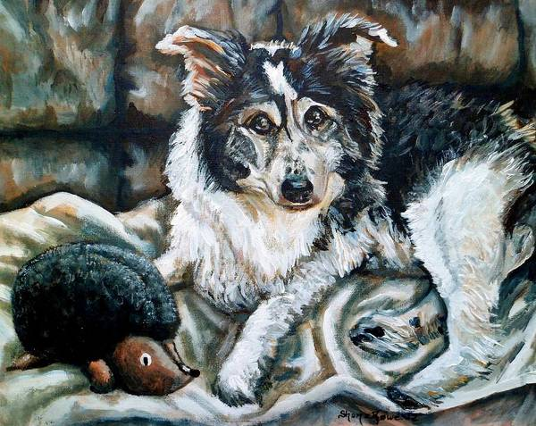 Dog Poster featuring the painting Brody by Shana Rowe Jackson