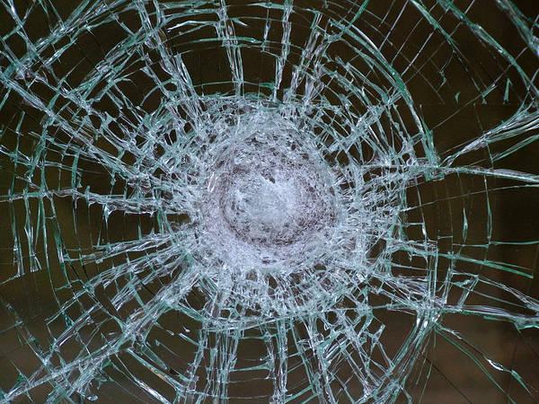 Shattered Poster featuring the photograph Broken Glass by Scott Lenhart