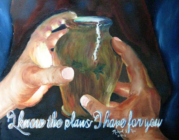 Pottery Poster featuring the painting Broken Vessels by Michael Race
