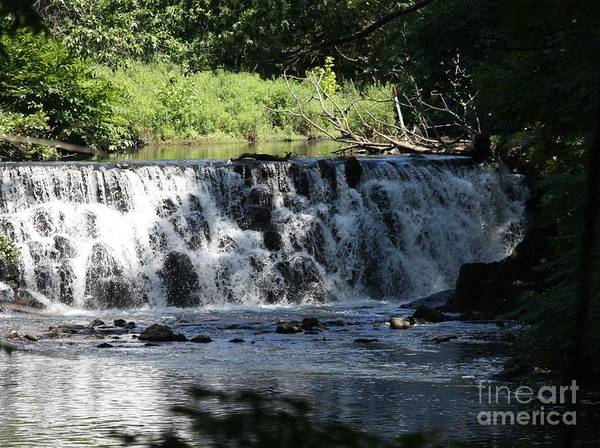 Bronx River Waterfall Poster featuring the photograph Bronx River Waterfall by John Telfer