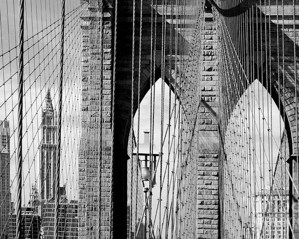 New York City Poster featuring the photograph Brooklyn Bridge New York City Usa by Sabine Jacobs