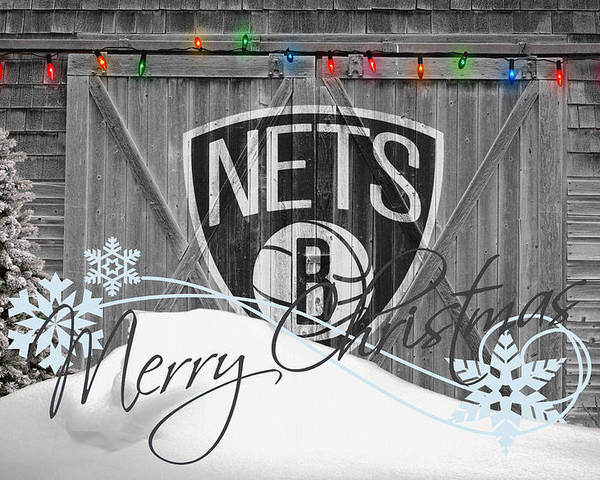Nets Poster featuring the photograph Brooklyn Nets by Joe Hamilton