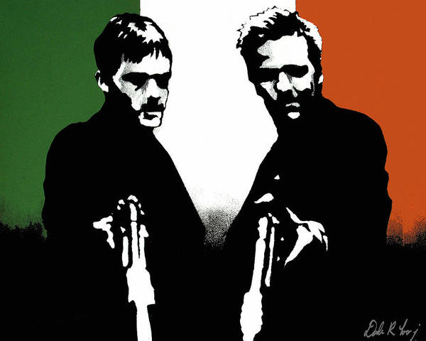 Boondock Saints Poster featuring the painting Brothers Killers And Saints by Dale Loos Jr