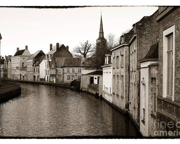 Bruges Canal Scene Poster featuring the photograph Bruges Canal Scene Vii by John Rizzuto