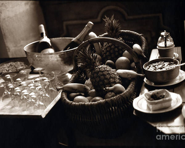 Champagne Poster featuring the photograph Brunch In The Loire Valley by Madeline Ellis