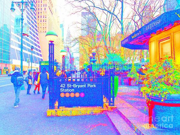 Urban Art Poster featuring the photograph Bryant Park by Dan Hilsenrath