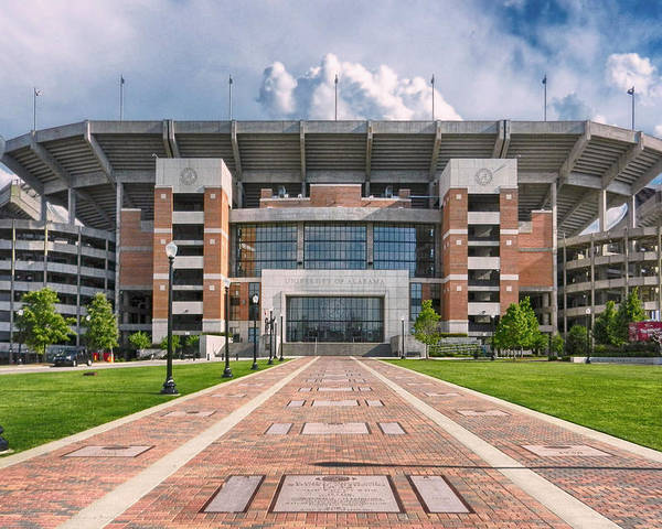 Crimson Tide Football Poster featuring the photograph Bryant Denny Stadium by Ben Shields