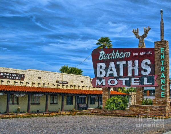 Arizona Poster featuring the photograph Buckhorn Baths Motel by Brian Lambert