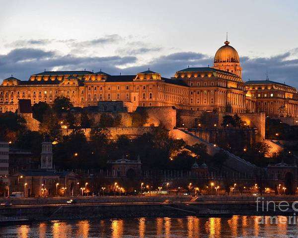 Budapest Palace at night Hungary by Imran Ahmed