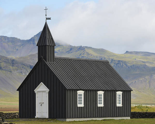 Outdoors Poster featuring the photograph Budir Church Stadarsveit, Snaefellsnes by Michael Thornton