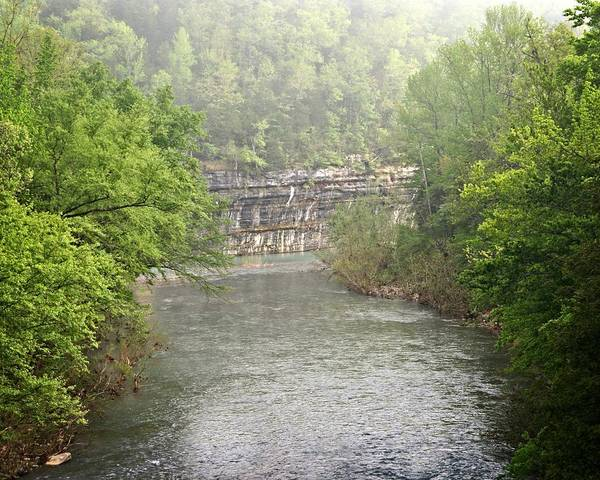 Buffalo National River Poster featuring the photograph Buffalo River Mist Horizontal by Marty Koch
