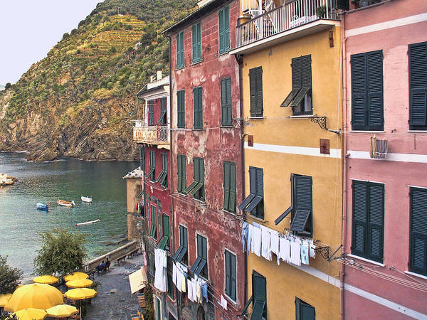 Italy Poster featuring the photograph Buildings Of Vernazza by Betty Eich