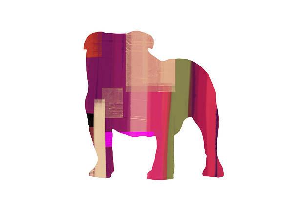 Bulldog Poster featuring the painting Bulldog by Naxart Studio