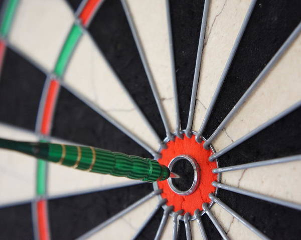 Darts Poster featuring the photograph Bulls Eye by Fran James