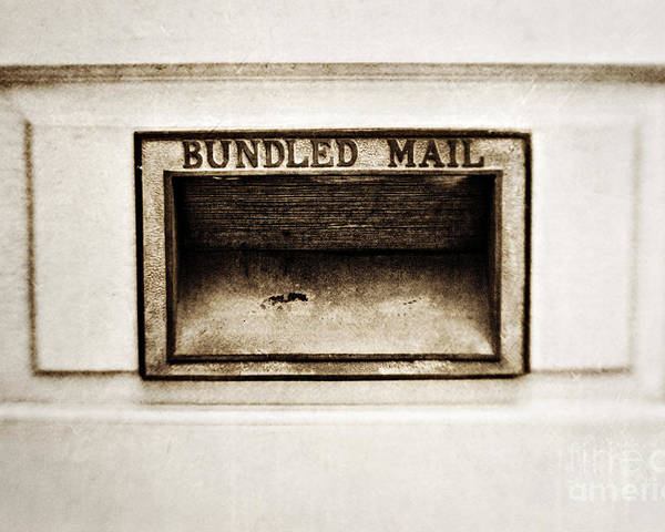 Mail Slot Poster featuring the photograph Bundled Mail by Scott Pellegrin