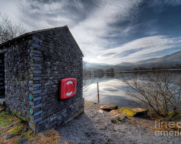 Architecture Poster featuring the photograph Buoy At Lake by Adrian Evans