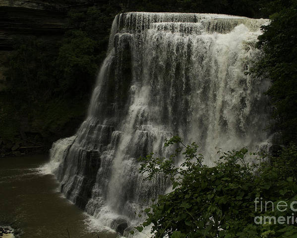 Water Falls Poster featuring the photograph Burgess Falls Tn by Regina Worrell