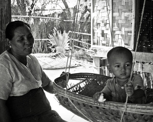 Child Poster featuring the photograph Burmese Grandmother And Grandchild by RicardMN Photography