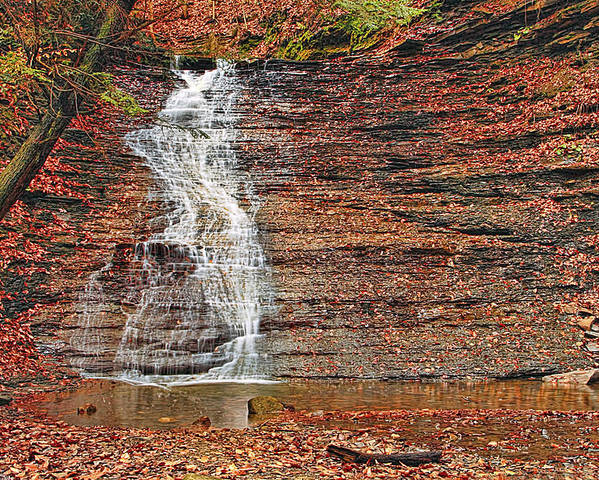 Landscape Poster featuring the photograph Buttermilk Waterfall by Marcia Colelli