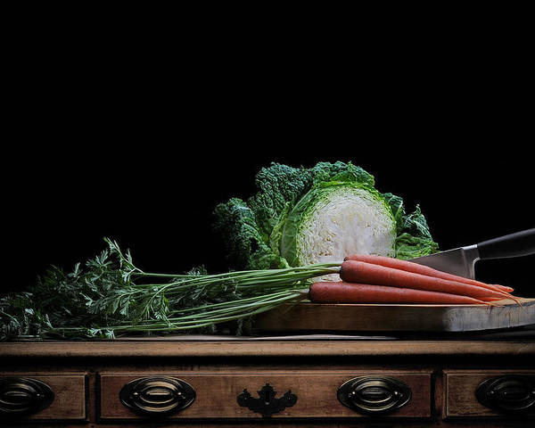 Art Poster featuring the photograph Cabbage And Carrots by Krasimir Tolev