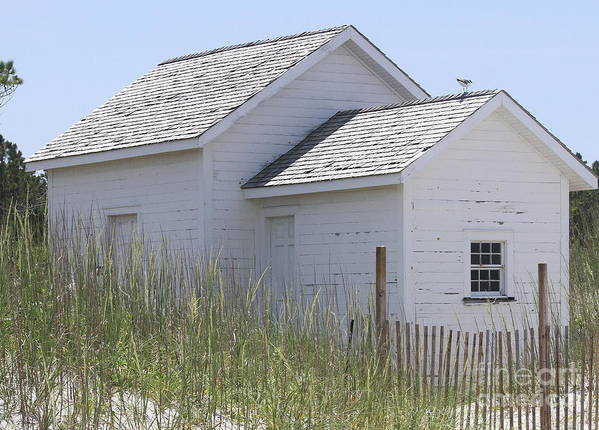 Obx Poster featuring the photograph Cabin At Cape Lookout 2 by Cathy Lindsey