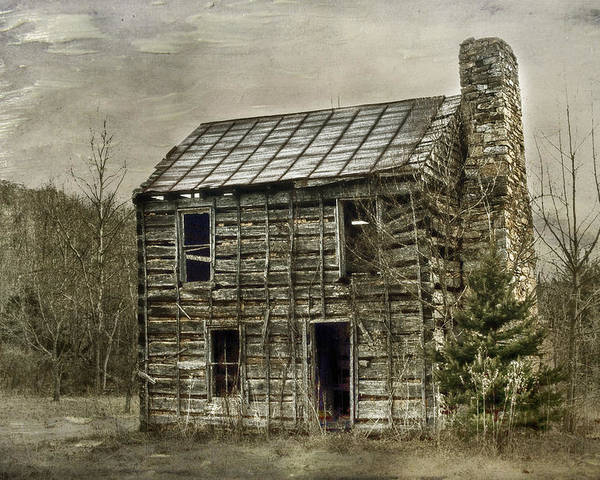 Cabin Poster featuring the photograph Cabin By The Track Series II by Kathy Jennings