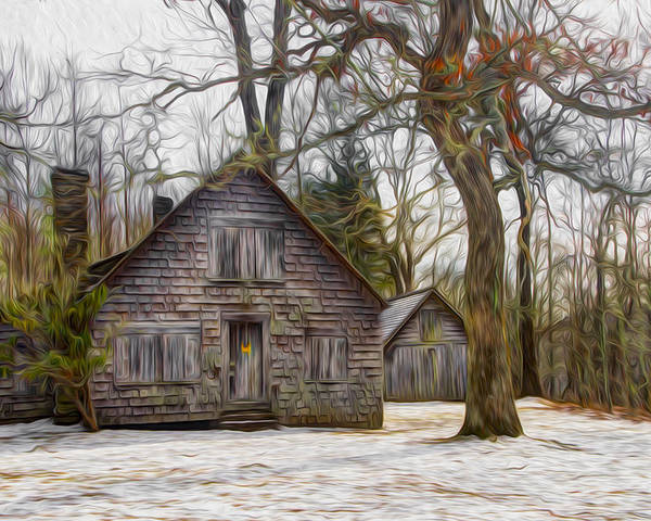 Appalachia Poster featuring the photograph Cabin Dream by Debra and Dave Vanderlaan