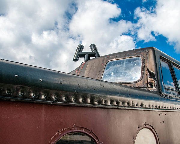 Guy Whiteley Photography Poster featuring the photograph Caboose Roof by Guy Whiteley
