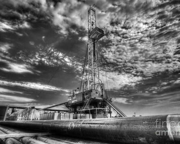 Oil Rig Poster featuring the photograph Cac001-6 by Cooper Ross